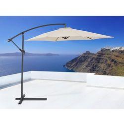 Parasol ogrodowy na wysiegniku - stojak metalowy – ø 288 cm - METALL bezowy - oferta [05b52c742701c37b]
