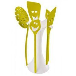 Koziol  stojak z akcesoriami meeting point biało-limonkowy - k3099525, kategoria: sztućce