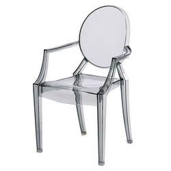 Krzesło dziecięce Mini Royal Junior inspirowane Louis Ghost - szary ||transparentny