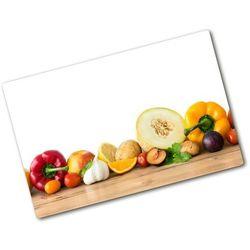 Deska kuchenna duża szklana Owoce i warzywa
