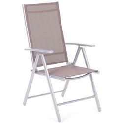 Krzesło ogrodowe aluminiowe Ibiza Basic Silver / Taupe