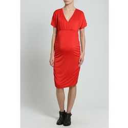 MAMALICIOUS Sukienka z dżerseju black/red z kategorii sukienki ciążowe