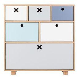 Durbas style drewniana komoda wysoka 80 x 45 pastelowa marki Durbas-style