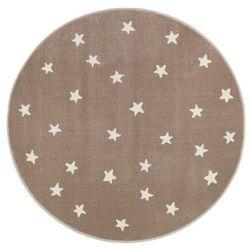Dywan okrągły Soft Gwiazdy 133 cm beżowy (5901760083041)
