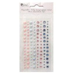 Kryształki i perły samoprzylepne  grkp-002/120szt. - różowo-niebieskie od producenta Dalprint