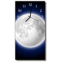 Tulup.pl Zegar szklany pionowy wszechświat księżyc kosmos kolorowy