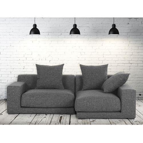 Sofa narozna L - tapicerowana - grafit - CLOUD, Beliani z Beliani