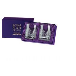 Royal scot crystal szklanki highland do whisky 330ml 2szt pres.b