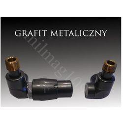 Zestaw zaworów grzejnikowych termostatycznych LUX lewy GRAFIT - sprawdź w wybranym sklepie