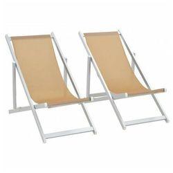 Edinos premium Komplet krzeseł plażowych strand - kremowe