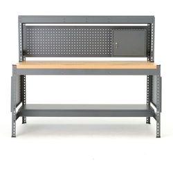 Aj produkty Stół warsztatowy combo, z panelem narzędziowym, oświetleniem i szafką, dąb