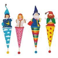 Kolorowa kukiełka do zabawy dla dzieci