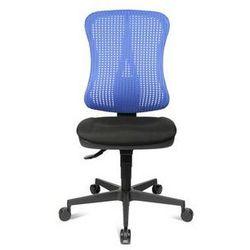 Krzesło obrotowe z podporą lędźwi, siedzisko nieckowe,bez poręczy