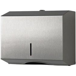 Pojemnik na ręczniki papierowe składane S Sanitario stal szlachetna matowa (5902767342735)
