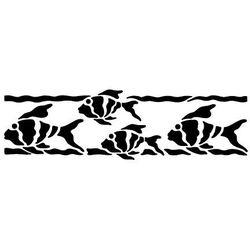 Szabloneria Szablon malarski z tworzywa, wielorazowy, wzór morski 25 - rybki