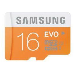 Karta pamięci SAMSUNG 16 GB microSDHC EVO MB-MP16DA/EU - produkt z kategorii- Karty pamięci