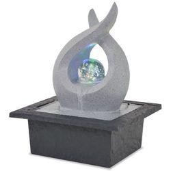 fontanna pokojowa ze światłem led, żywica poliestrowa marki Vidaxl