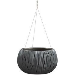 Doniczka wisząca Sandy Bowl z wkładem 37 cm antracyt
