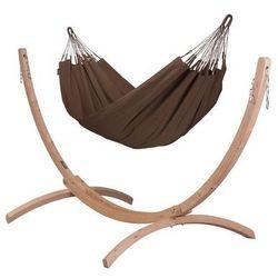 La siesta Zestaw hamakowy: hamak modesta ze stojakiem canoa, brązowy moh14cns12-1