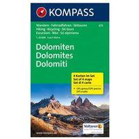 Kompass Karte Dolomiten - Dolomites - Dolomiti, 4 Bl.