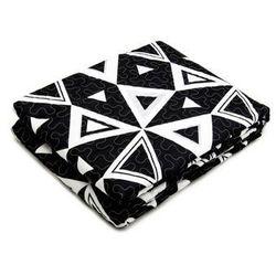 Oulaiya Narzuta + poszewki 40x40 czarny + biały 001 220x240