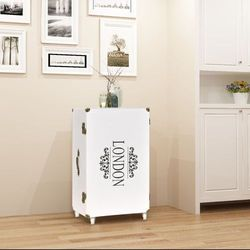 szafka w kształcie walizki 40x30,5x81 cm, biała marki Vidaxl