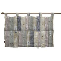 wezgłowie na szelkach, brązowo-szare deski, 90 x 67 cm, marina marki Dekoria