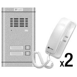Genway Zestaw domofonowy 2-rodzinny WL-02NE-2 WL-02NE-2 - zestaw - Rabaty za ilości. Szybka wysyłka. Profesjonalna pomoc techniczna., WL-02NE-2 - zestaw