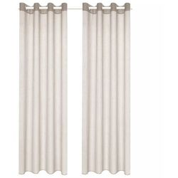 Zasłony stylizowane na lniane, 2 szt., 140 x 225 cm, brązowe marki Vidaxl