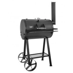 Duży grill węglowy ogrodowy z wędzarką wędzarnia hecht steamroller blacha 1.5mm termometr komin 84cm ewimax - oficjalny dystrybutor - autoryzowany dealer hecht marki Hecht czechy