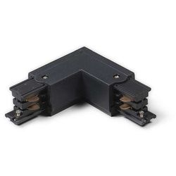 Łącznik typu L lewy dla szyny 3-fazowej czarny - produkt dostępny w lampyiswiatlo.pl