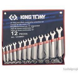 King tony Zestaw kluczy płasko-oczkowych odgiętych 12cz. 8 - 22mm 1272mr01