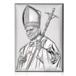 Jan Paweł II Papież Obrazek srebrny GRAWER GRATIS!, kup u jednego z partnerów