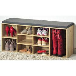 Szafka na buty z siedziskiem, siedzisko do przedpokoju, komoda na buty, drewniana szafka na buty, regał na buty, Kesper (4000270159206)