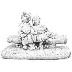 Figura ogrodowa betonowa dzieci na ławce 42cm