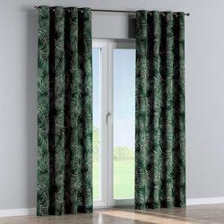 zasłona na kółkach 1 szt., zielony w liście, 1szt 130 × 260 cm, velvet marki Dekoria