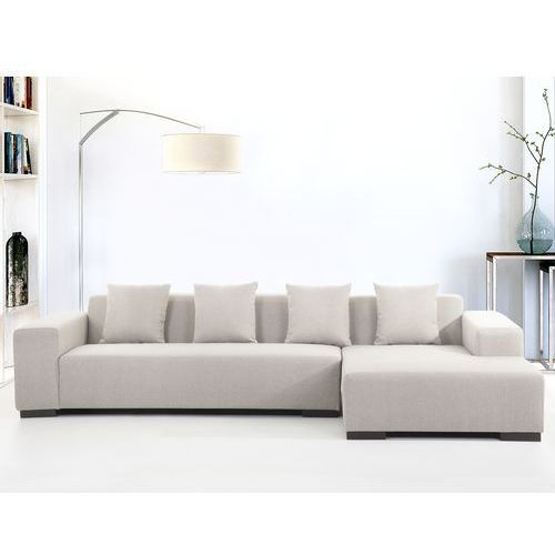 Sofa bezowa - sofa narozna L - tapicerowana - LUNGO ze sklepu Beliani