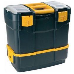 Plastikowe walizki na narzędzia z dodatkowym pojemnikiem, AP6700V