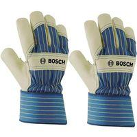 Rękawice ochronne ze skóry wołowej GL Bosch 2607990110 Wielkość=11 beżowy, niebieski (3165140712279)