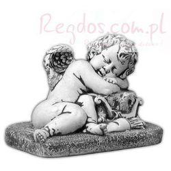 Figura ogrodowa betonowa śpiący aniołek 26cm