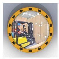 Dancop Lustro z żółto-czarną ramą okrągłe - odległość obserwacyjna 11 m