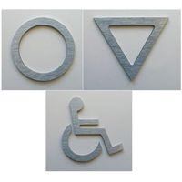WC, piktogram, symbol, znak ubikacji z aluminium, 2952738096