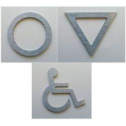 WC, piktogram, symbol, znak ubikacji z aluminium z kategorii akcesoria do drzwi