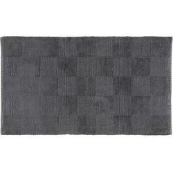 Dywanik łazienkowy szachownica 60 x 100 cm antracytowy tkany ręcznie marki Cawo