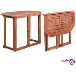 vidaXL Stolik balkonowy z litego drewna akacjowego, 90x50x75 cm (8718475614289)