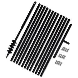 vidaXL Świder glebowy z uchwytem, 80 mm, rurą przedłużającą, 13 m, stal - produkt z kategorii- Pozostałe narzędzia elektryczne