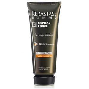 homme capital force ultra-fixing gel - mocny, pogrubiający żel dla mężczyzn 200ml marki Kerastase