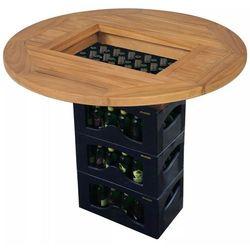 vidaXL Blat na skrzynkę z piwem, 70 cm, drewno tekowe (8718475581017)