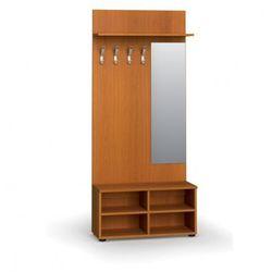 Garderoba z półką na buty i lustrem, 4 haczyki, półka, czereśnia marki B2b partner