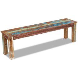 Vidaxl  ławka z drewna odzyskanego 160x35x46 cm